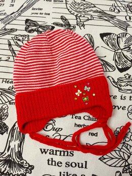 Головные уборы - Детская шапка для новорожденных, цвет: бордовый,…, 0