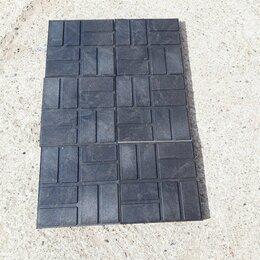 Садовые дорожки и покрытия - Плитка полимерпесчаная 250х250 черная , 0