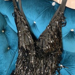 Платья - Платье чёрное вечернее 42 размер новое, 0
