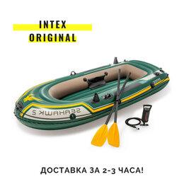 Надувные, разборные и гребные суда - Надувная лодка пвх Intex новая двухместная оригинал, 0