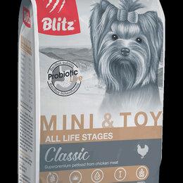 Корма  - Блиц сухой корм 2кг для взрослых собак мелких и миниатюрных пород, 0