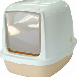 Туалеты и аксессуары  - Туалет-домик Homecat для кошек 53х39х42 см (бежевы, 0
