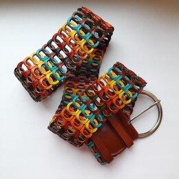 Ремни, пояса и подтяжки - Новый плетеный ремень разноцветный, черный, белый, 0