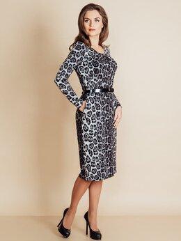 Платья - Леопардовое платье из вискозы, 0