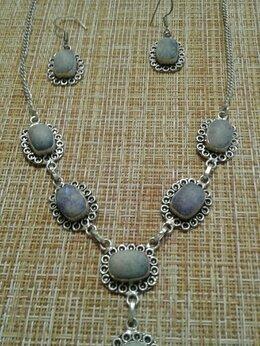 Комплекты - Очаровательный комплект колье и серьги серебро 925, 0