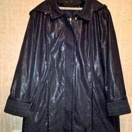 Плащи - Куртка - плащ с капюшоном, ФИРМЕННАЯ, со съемной подстежкой р.50-54 качественная, 0