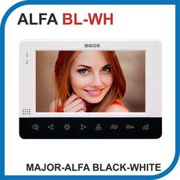 Домофоны - Видеодомофон MAJOR ALFA BLACK-WHITE., 0