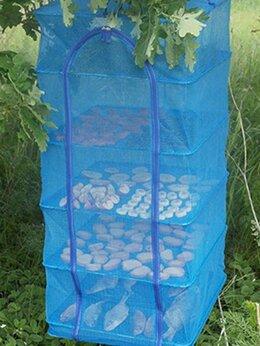 Сушилки для овощей, фруктов, грибов - Сетка сушилка большая 50X50X95 подвесная 5 полок…, 0