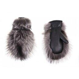 Перчатки и варежки - Рукавицы женские кожано-меховые, чернобурка овчина, 0