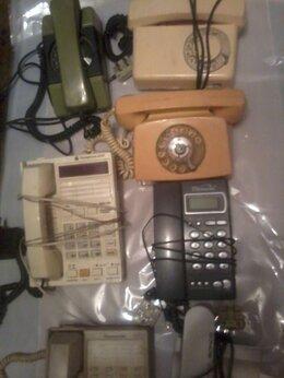 Проводные телефоны - Телефоны дисковые и кнопочные 7 шт. винтаж, 0