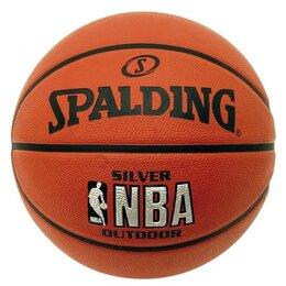 Мячи - Мяч баскетбольный №7 SPALDING NBA SILVER с логотипом NBA , 0