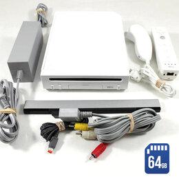 Игровые приставки - Nintendo Wii (б/у) White 64Gb комплект, 0