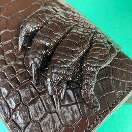 Кошельки - Кошелек коричневый из кожи крокодила с лапой, 0
