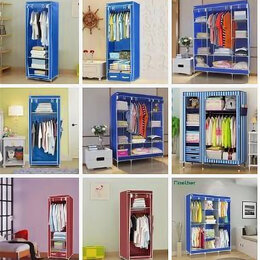 Шкафы, стенки, гарнитуры - Новый Складной каркасный тканевый шкаф для одежды , 0