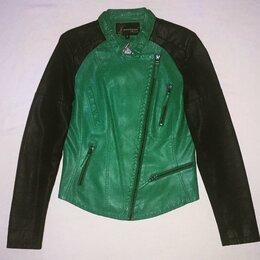 Куртки - Куртка-косуха 42-44 кожаная женская,новая, 0