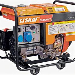 Электрогенераторы и станции - Дизельный генератор 5 кВт СКАТ УГД-5300Е, 0