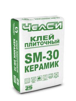 Клей - Клей плиточный ЧелСИ КЕРАМИК SM-30, 25 кг., 0