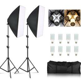Фотовспышки - Новый набор Софтбокс освещения для фотосъемки, 0