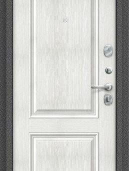 Входные двери - Дверь входная S 104.К32 Антик Серебро/Bianco…, 0