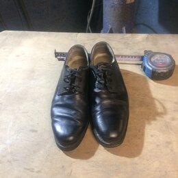 Туфли - Туфли мужские кожаные на шнурках, 0
