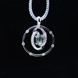 Кулоны и подвески - Александрит в подвеске из золота и бриллиантов, 0