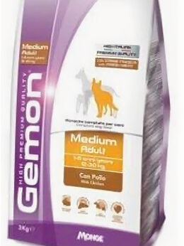 Корма  - Корм Gemon Dog Medium для собак средних пород с ку, 0