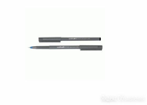 Ручка роллер Uni-Ball Micro UB-104 черная 0.5 мм сер корп. 66251 по цене 71₽ - Канцелярские принадлежности, фото 0