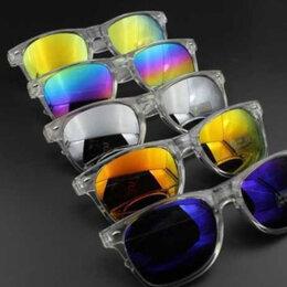 Очки и аксессуары - стильные солнцезащитные очки с прозрачной оправой новые, 0