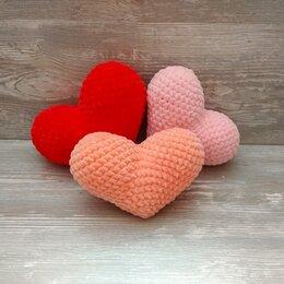 Рукоделие, поделки и сопутствующие товары - Вязаная игрушка плюшевое сердце, 0