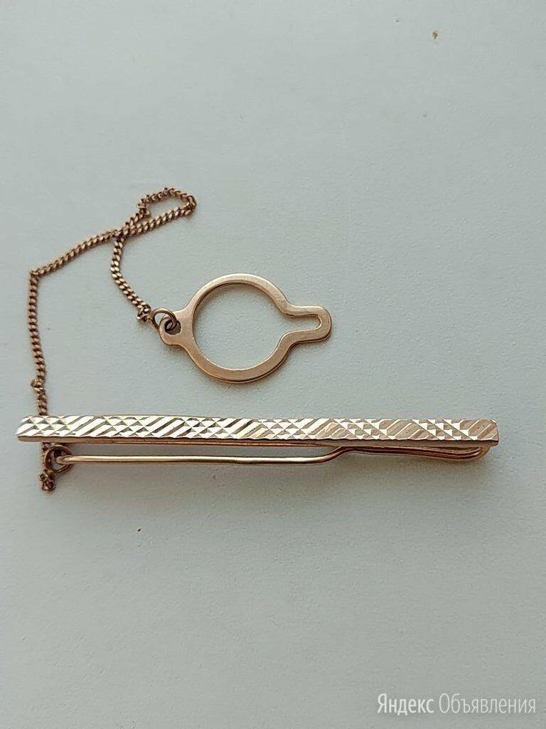 Золотой зажим, заколка для галстука по цене 25000₽ - Запонки и зажимы, фото 0