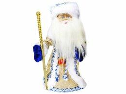 Ёлочные украшения - Дед Мороз в синей шубе, анимация, звук, 30 см,…, 0