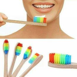 Зубные щетки - Радужная зубная щётка, бамбуковая, 0