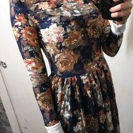 Платья - Новое платье синее макси, 0