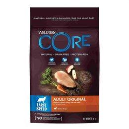 Корма  - Сухой корм для взрослых собак крупных пород Wellness Core Adult Original LAR..., 0