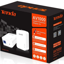 Проводные роутеры и коммутаторы - Tenda PH3 1Гбит Powerline PLC, 0