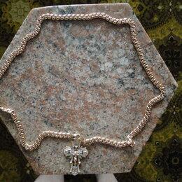 Цепи - Крест наперсный (нагрудный) на цепи золотой. , 0