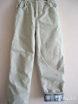 Полукомбинезоны и брюки - брюки утепленные на мальчика 10-12 лет,б/у, 0