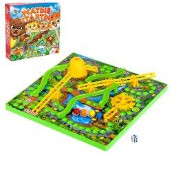 Настольные игры - Настольная игра-бродилка «Усатые старты», 3D-поле, 0