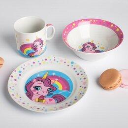 Посуда - Наборы посуды «Единороги и радуга», 0