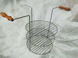 Тандыры - Решетка трехъярусная большая с деревянными ручками, 0