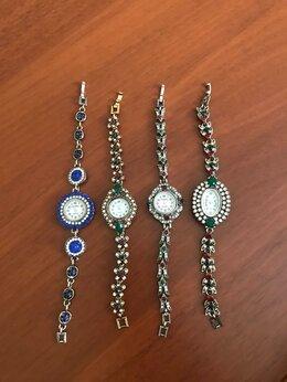 Наручные часы - Часы женские под серебро с самоцветами, 0