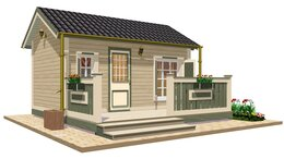 Готовые строения - Дачный домик TEREMDOM №1, 0
