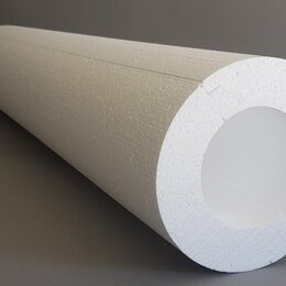 Изоляционные материалы - Скорлупа ППС Утеплитель труб D80Х1230Х50 мм, 0