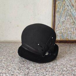 Головные уборы - Фетровая дамская шляпка, 0