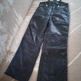 Брюки - Женские болоньевые штаны на лямках для спорта и отдыха. Размер: 48, 0