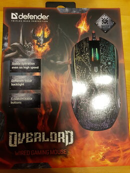 Мыши - Defender Overlord 3200dpi Новая, 0