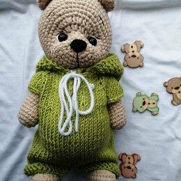 Мягкие игрушки - Вязанный мишка ручной работы , 0