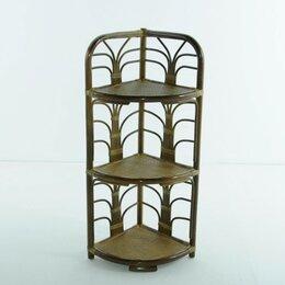 Плетеная мебель - Этажерка угловая с 3 полками олива Calamus Rotan, 0