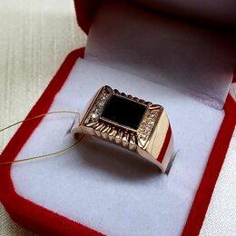 Кольца и перстни - Мужская золотая печатка , 0
