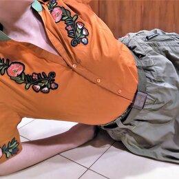 Блузки и кофточки - 🔴 Max Mara Италия рубашка блуза сорочка вышивка шелк, 0